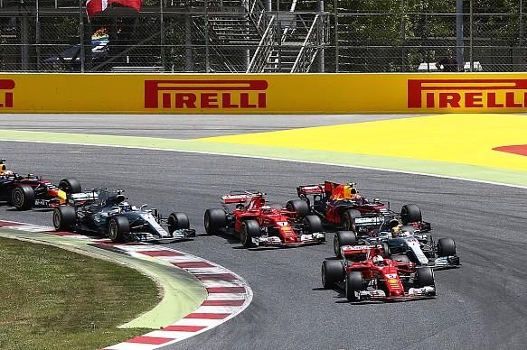 Spanish GP start F1 2017