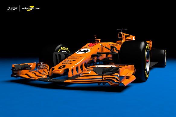 what a papaya orange 2018 mclaren renault f1 car could look like f1 news. Black Bedroom Furniture Sets. Home Design Ideas