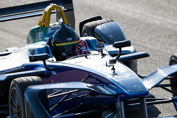 Patrick Carpentier Formula E test Valencia