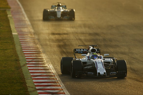 Williams, Mercedes, testing