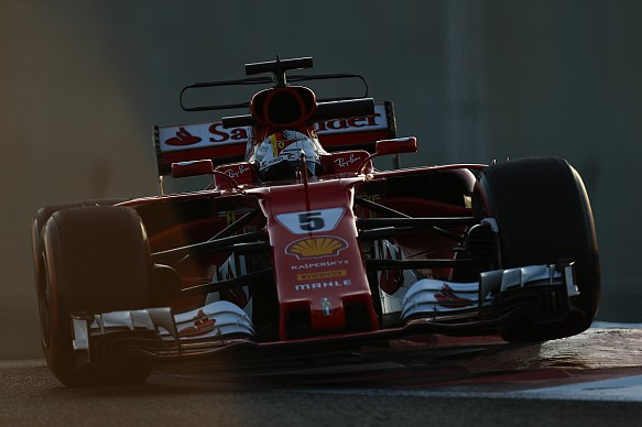 Sebastian Vettel Ferrari Abu Dhabi F1 testing 2017