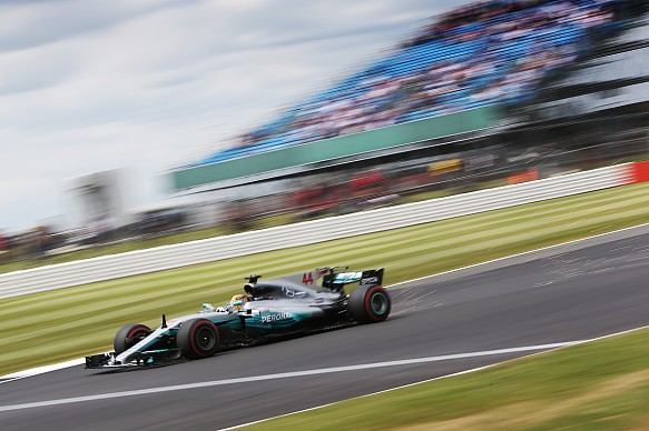 Lewis Hamilton Mercedes Silverstone F1 2017