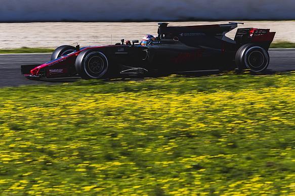 Romain Grosjean Haas F1 testing 2017