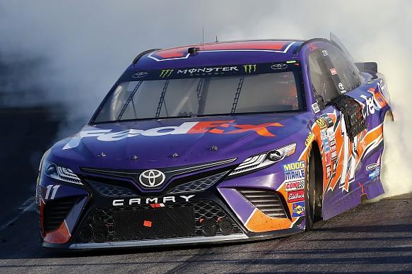 Denny Hamlin wins New Hampshire NASCAR 2017