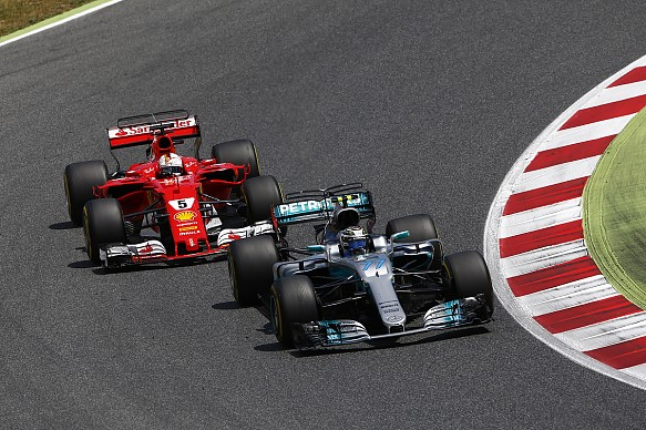 Bottas Vettel F1 2017 Spanish GP