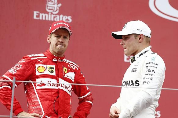 Sebastian Vettel Valtteri Bottas 2017