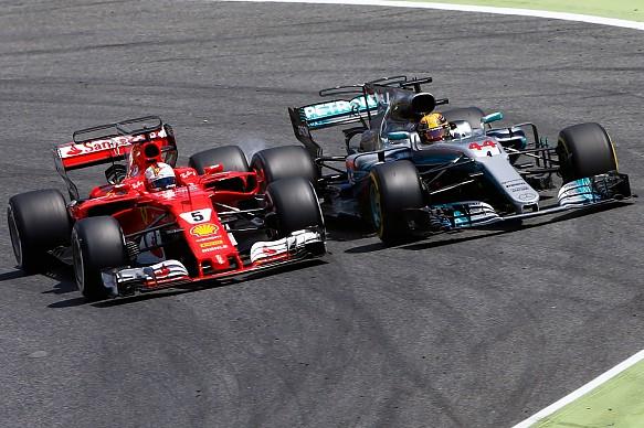 Lewis Hamilton and Sebastian Vettel Spanish GP 2017