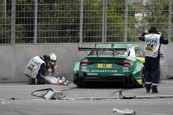 Mike Rockenfeller Norisring DTM crash 2017