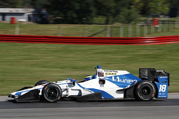 bourdais makes indycar test return after indy 500 qualifying shunt indycar news. Black Bedroom Furniture Sets. Home Design Ideas