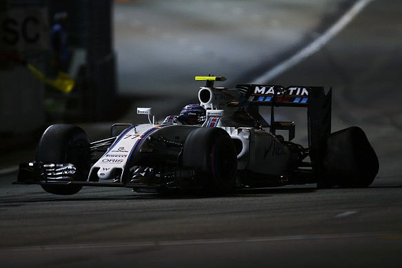 Bottas, Williams, Singapore puncture