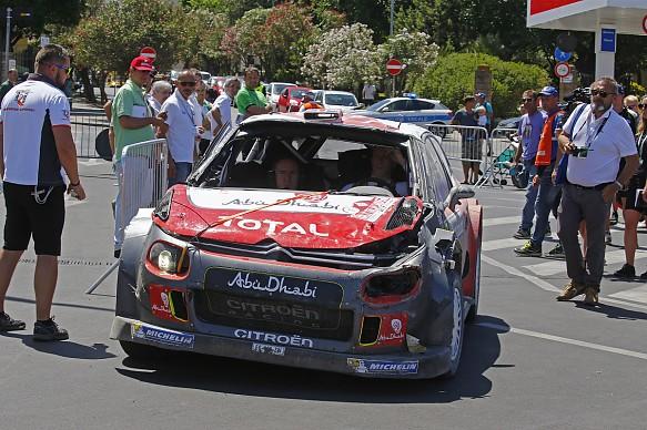 Kris Meeke, Citroen, damage WRC Argentina 2017