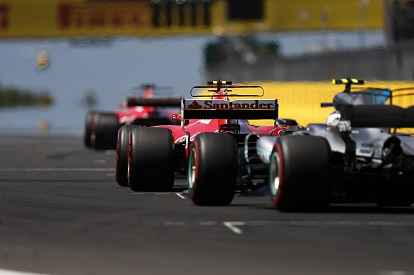 Sebastian Vettel Kimi Raikkonen Valtteri Bottas Hungarian Grand Prix 2017