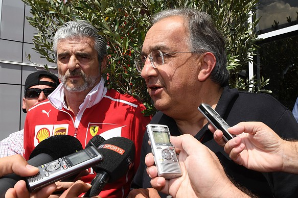 Marchionne Arrivabene Monza 2017 F1 Ferrari