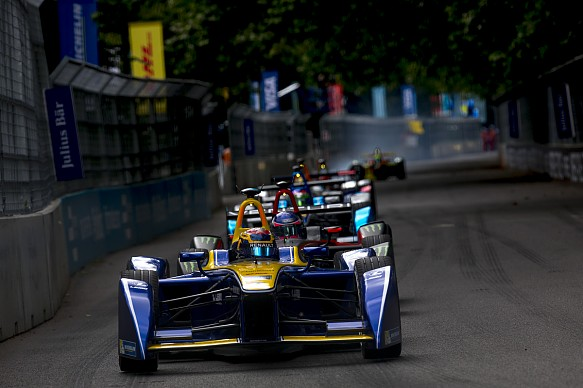 Sebastien Buemi, damage, e.dams, London Formula E 2016