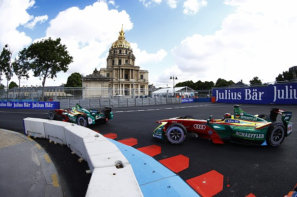 formula e lucas di grassi tops practice in paris formula e news. Black Bedroom Furniture Sets. Home Design Ideas