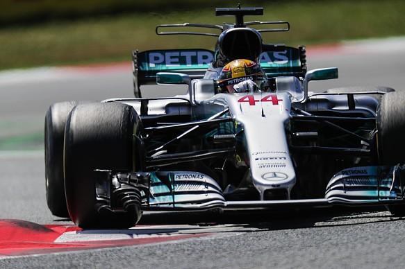 Lewis Hamilton Mercedes Spanish GP 2017