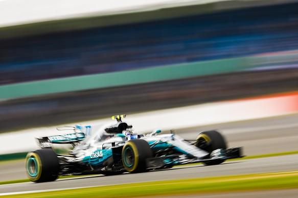 Valtteri Bottas Mercedes British GP practice 2017