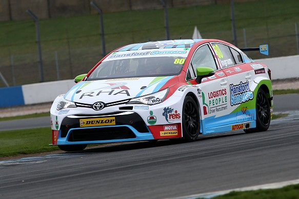Tom Ingram, Speedworks Motorsport Toyota Avensis, BTCC pre-season test Donington Park 2017