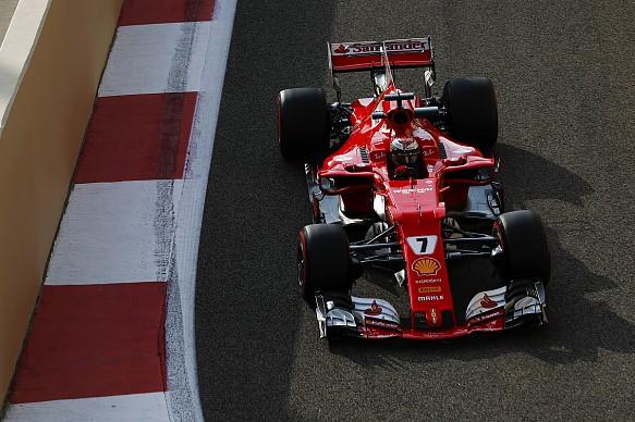 Kimi Raikkonen Ferrari Abu Dhabi F1 test 2017