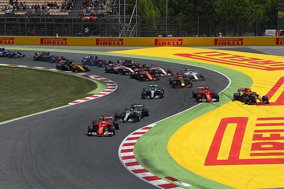 Spanish GP Bottas Raikkonen Verstappen Turn 1 collision