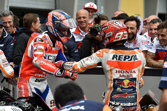 Danilo Petrucci and Marc Marquez