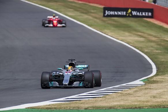Lewis Hamilton Mercedes Kimi Raikkonen Ferrari Silverstone British Grand Prix 2017
