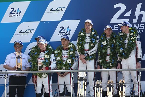 Le Mans LMP1 podium 2017