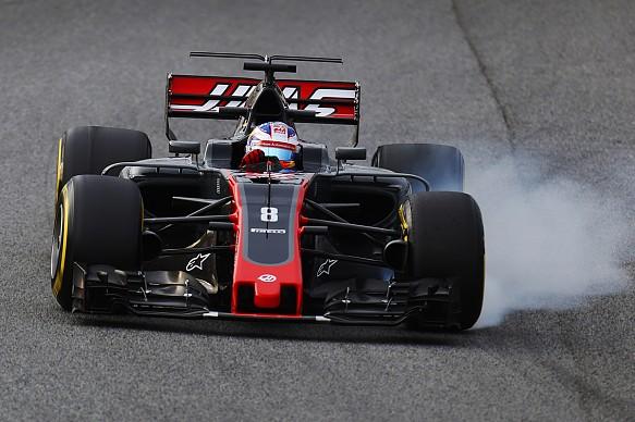 Grosjean, Haas, testing