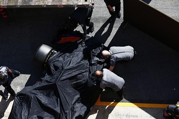 McLaren, broken, testing