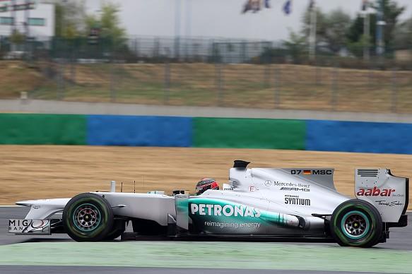 Mercedes F1 shark fin number test 2012