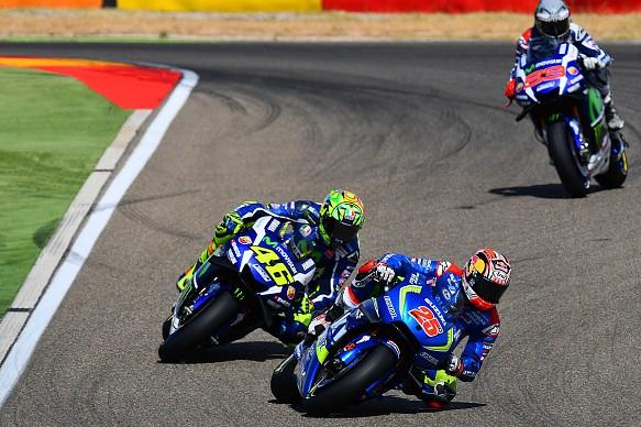 Vinales Rossi Lorenzo Aragon MotoGP
