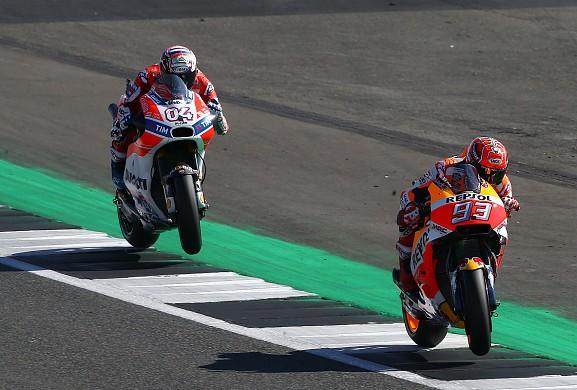 Marquez Dovizioso MotoGP Silverstone 2017