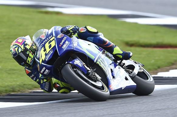 Valentino Rossi Yamaha Silverstone MotoGP 2017