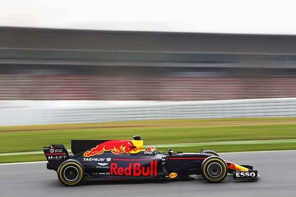 Max Verstappen Red Bull F1 testing 2017