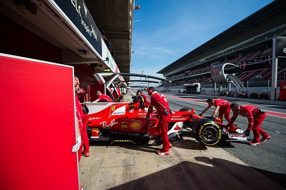 Sebastian Vettel, Ferrari, Formula 1 pre-season testing Barcelona