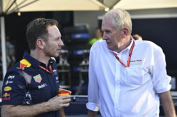 Christian Horner Helmut Marko Red Bull F1 2017
