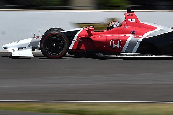 Oriol Servia 2018 IndyCar testing Indianapolis