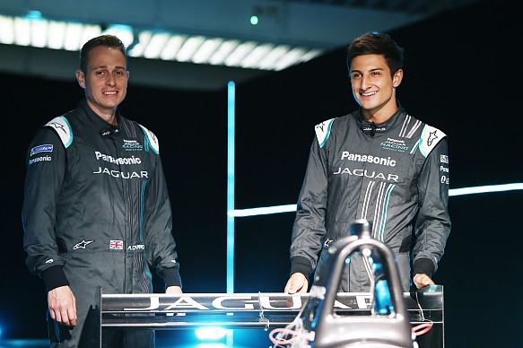 Carroll, Evans, Jaguar FE launch