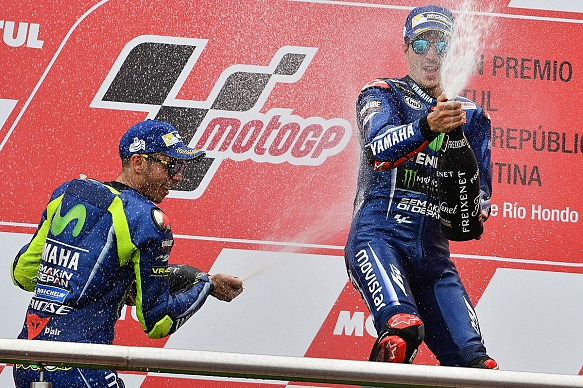 Vinales, Rossi, Argentinan GP podium