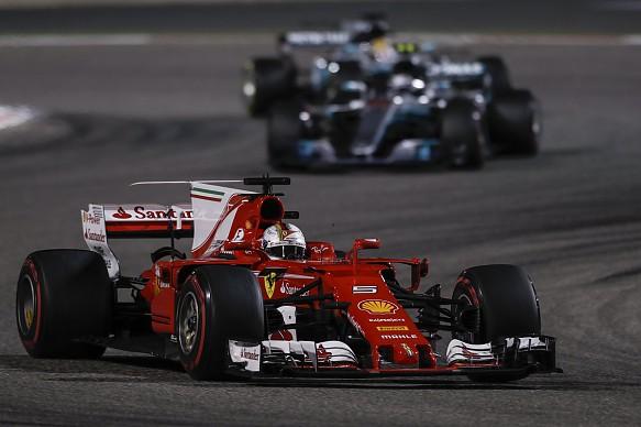 Ferrari and Mercedes, Bahrain GP 2017