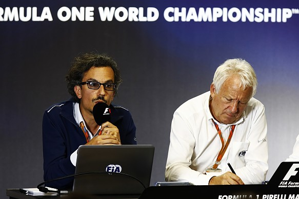 Laurent Mekies and Charlie Whiting