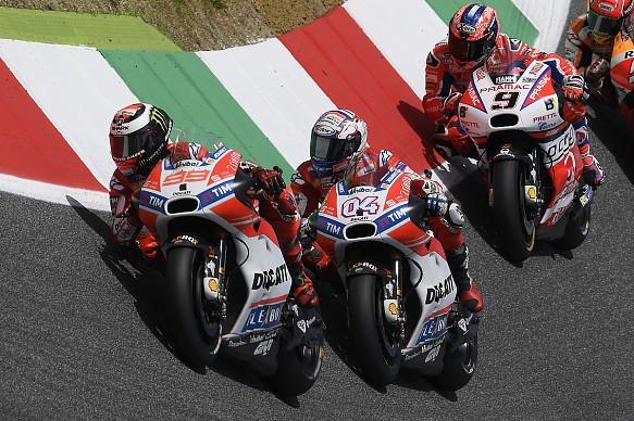 Jorge Lorenzo and Andrea Dovizioso Ducati Mugello MotoGP 2017