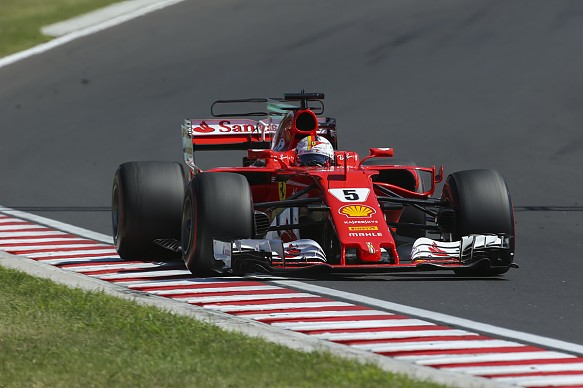 Sebastian Vettel Ferrari Hungarian Grand Prix 2017