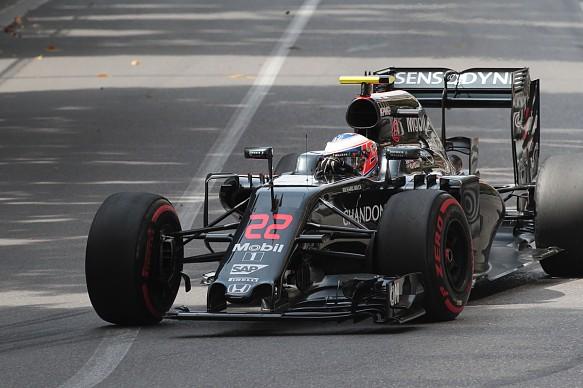 Jenson Button damage after drain incident, Monaco GP 2016