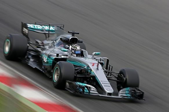 Valtteri Bottas Mercedes F1 testing 2017
