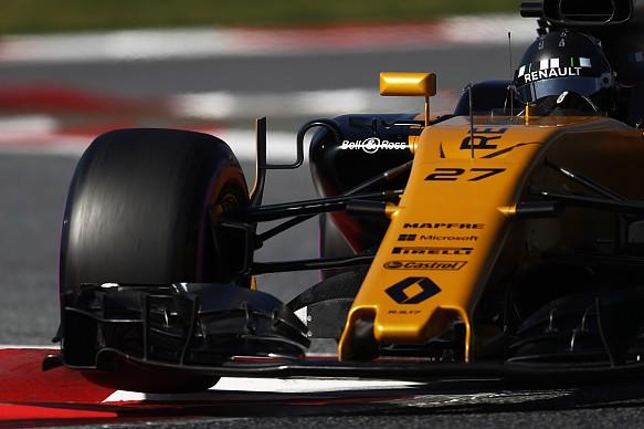 Nico Hulkenberg Renault F1 testing 2017