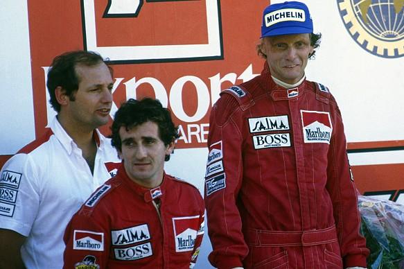 Lauda Prost Ron Dennis F1 1984