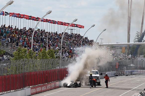 Esteban Gutierrez crash Toronto IndyCar 2017