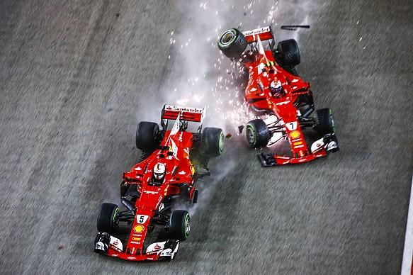 Singapore GP start crash 2017