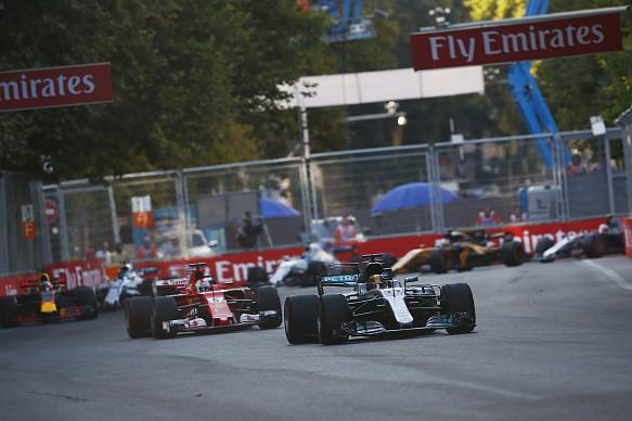Lewis Hamilton Sebastian Vettel Azerbaijan Grand Prix